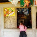Kiosk og jente
